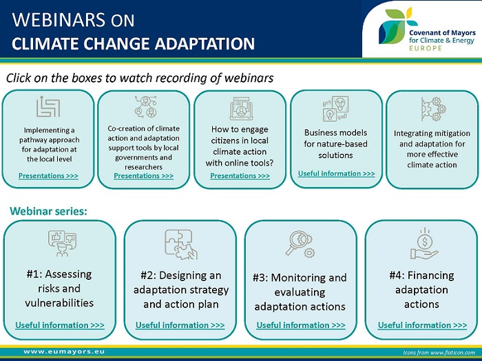 CoM Adaptation webinars
